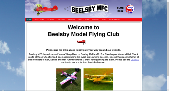 WebMorf Portfolio - Beelsby Model Flying Club