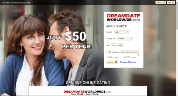 WebMorf Portfolio - DreamDateWorldWide.com