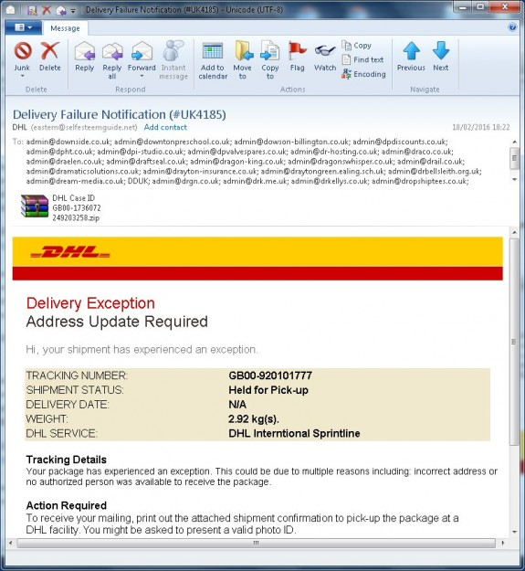 DHL email scam