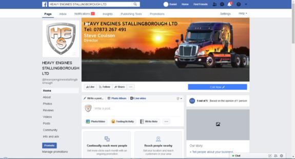 WebMorf PortFolio - HES Facebook Page