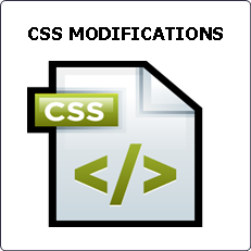 CSS modifications